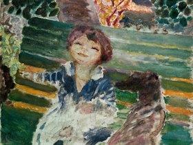 Pierre Bonnard: Kleines Maedchen mit Hund
