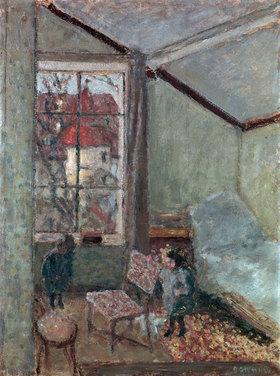 Pierre Bonnard: Studio interior with two children