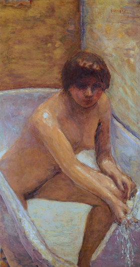 Pierre Bonnard: Nude in bathtub