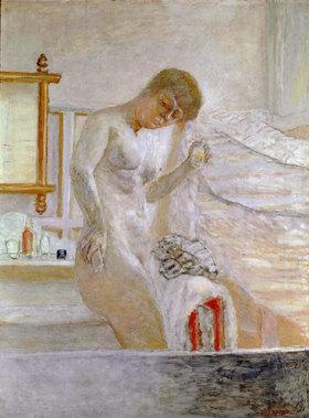 Pierre Bonnard: Sich waschende Frau