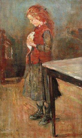Edvard Munch: Rothaariges Mädchen mit weißer Ratte