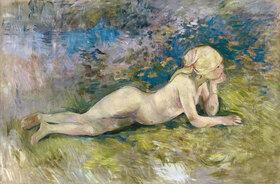 Berthe Morisot: Liegende Hirtin