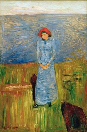 Edvard Munch: Frau mit rotem Hut beim Fjord