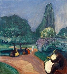 Edvard Munch: Studenterlunden / Sommernacht