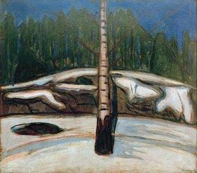 Edvard Munch: Die Birke im Schnee