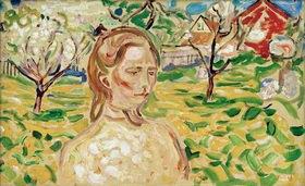 Edvard Munch: Frau im Garten