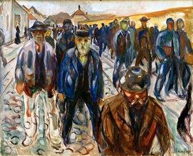 Edvard Munch: Arbeiter auf dem Heimweg