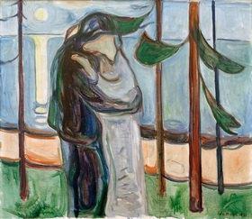 Edvard Munch: Kuss am Strand