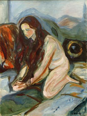 Edvard Munch: Akt kniend