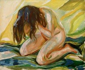 Edvard Munch: Kniender weiblicher Akt