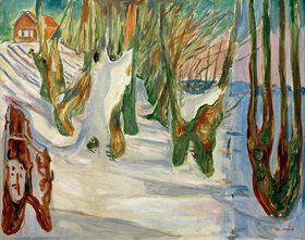 Edvard Munch: Alte Bäume (Winter, Ekely)