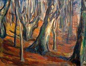 Edvard Munch: Herbst (Alte Bäume, Ekely)