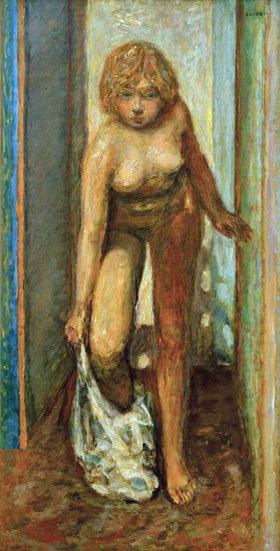 Pierre Bonnard: Sich entkleidende Frau