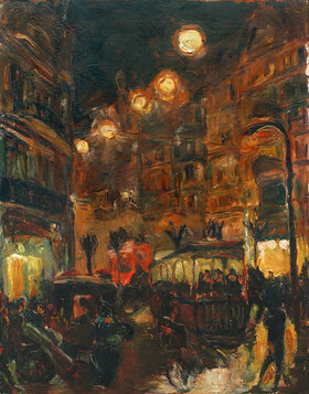 Max Beckmann: Straße bei Nacht