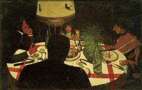 Felix Vallotton: Bei Tisch, Lichtwirkung