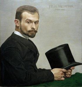 Felix Vallotton: Felix Jasinski seinen Hut haltend