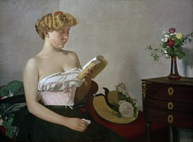 Felix Vallotton: Lesende Frau