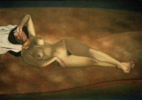 Felix Vallotton: Femme couchée sur le sable