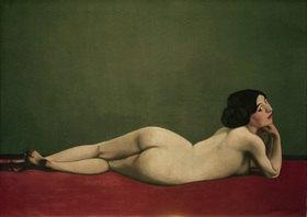 Felix Vallotton: Nu couchè au tapis rouge