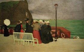 Felix Vallotton: Die Strandpromenade in Etretat