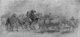 Rosa Bonheur: Study for The Horse Fair