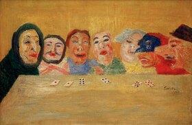 James Ensor: jouer aux cartes avec masques
