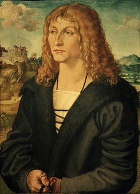 Albrecht Dürer: (Portrait of a beardless young man, c