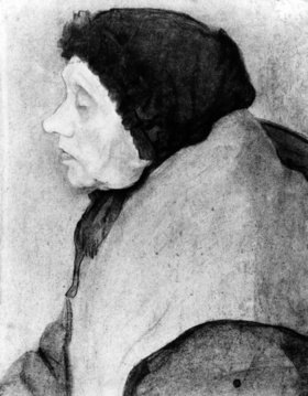 Paula Modersohn-Becker: Old Woman with bonnet, side-face