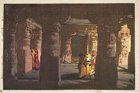 Yoshida Hiroshi: Ellora, Cave Temple