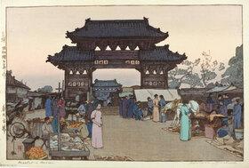 Yoshida Hiroshi: A Market in Mukden