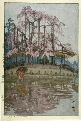 Yoshida Hiroshi: Yozakura in Rain