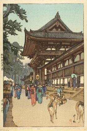 Yoshida Hiroshi: Diabutsu Temple Gate