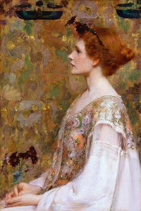 Albert Herter: Frau mit roten Haaren