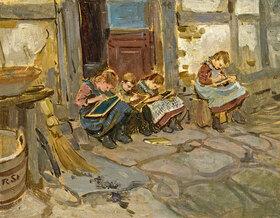 Robert Hermann Sterl: Kinder bei Schularbeiten