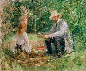 Berthe Morisot: Eugène Manet und seine Tochter im Garten