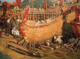 Nikolai Konstantinow Roerich: Bau von Schiffen