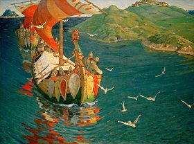 Nikolai Konstantinow Roerich: Kaufleute aus Übersee
