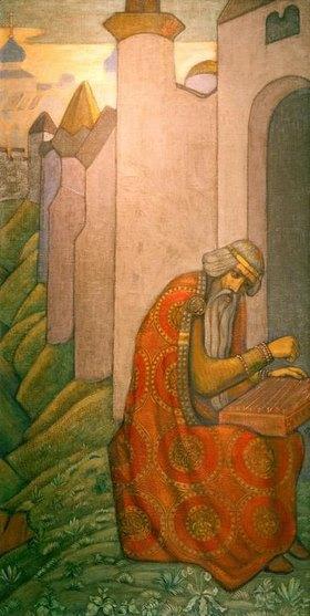 Nikolai Konstantinow Roerich: Bajan, Mittelalterlicher slawischer Dichter