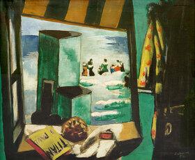 Max Beckmann: Badekabine, grün