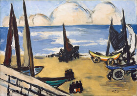 Max Beckmann: Boote am Strand