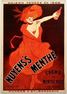 Leonetto Cappiello: Nuyens's Menthe / Crème de Menthe Rose