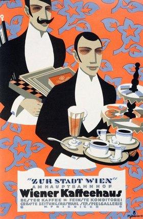 Kaffeehaus, Zur Stadt Wien / Plakat