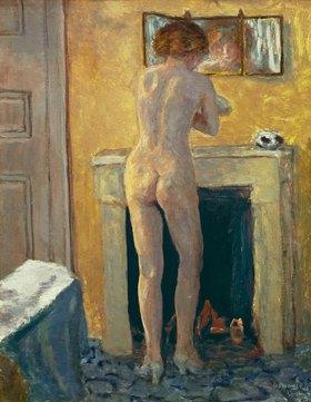 Pierre Bonnard: Bonnard, Pierre 1867?1947.?Nude before Fire-place, Back View?,1919.Painting.Saint-Tropez, Musée de l?Annonciade