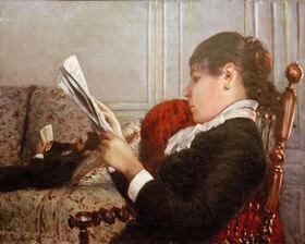 Gustave Caillebotte: Intérieur dit aussi Intérieur, femme lisant