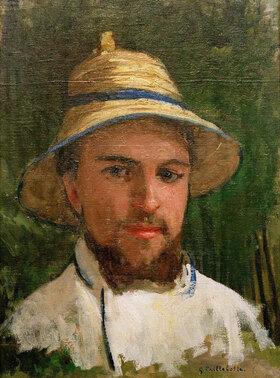 Gustave Caillebotte: Autoportrait au chapeau d'été