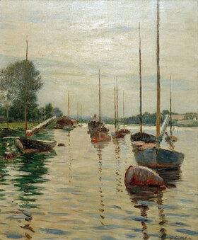 Gustave Caillebotte: Bateaux à l'ancre sur la Seine