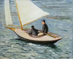 Gustave Caillebotte: Bateau à voile sur la Seine