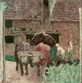 Pierre Bonnard: Die zwei Ochsen und der Bauernhof