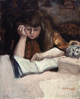 Pierre Bonnard: Lesende mit aufgestütztem Ellenbogen