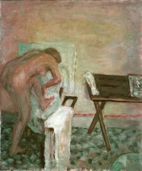 Pierre Bonnard: Kleiner Akt, vorgebeugt